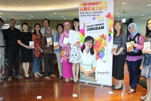 """Launching buku """"Kreatif Memilih Jurusan"""" di Comma Indonesia, Jakarta (foto: jurusanku.com)"""