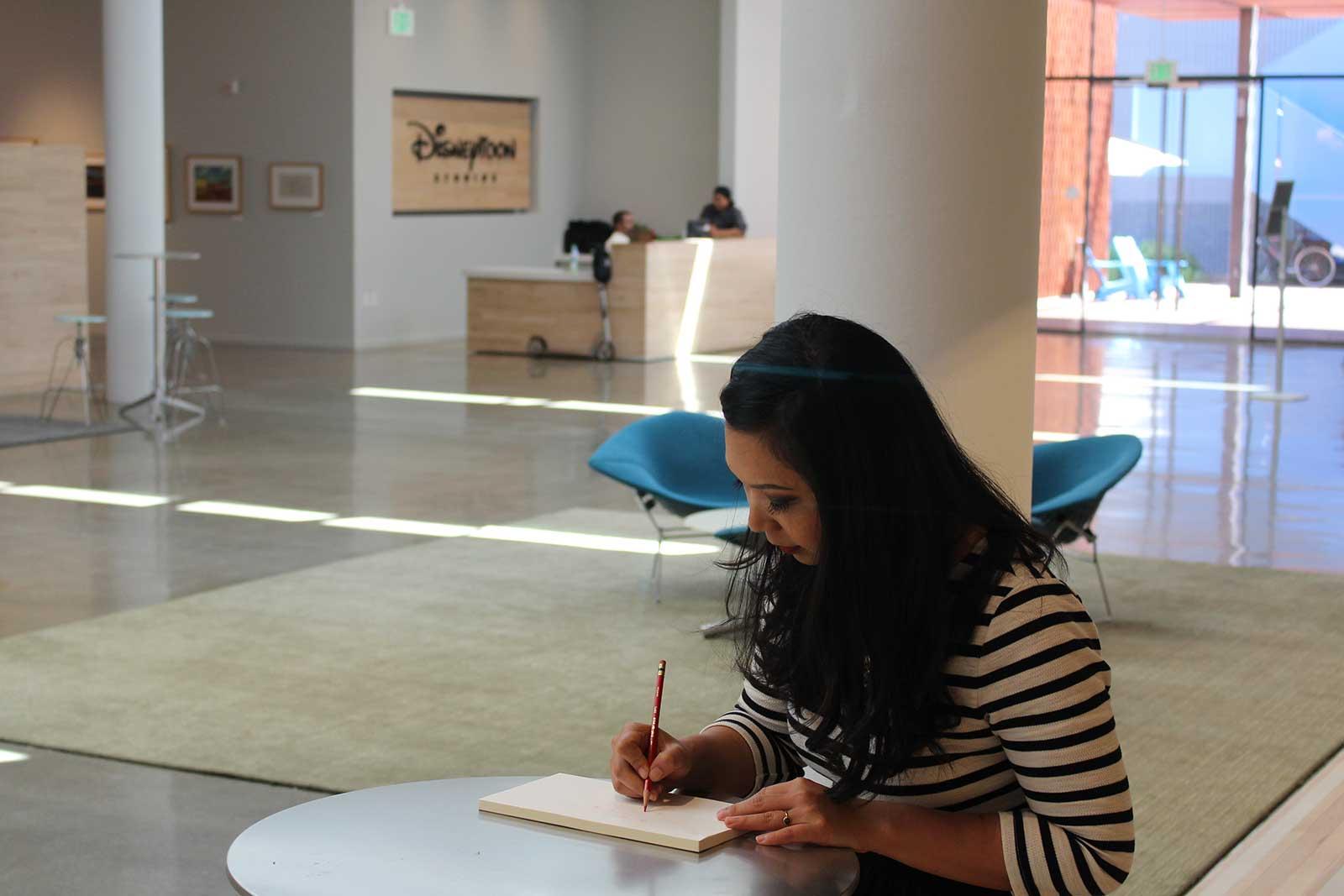Griselda Sastrawinata, di salah satu area DisneyToon Studios, Glendale, California (foto: Ina Liem)