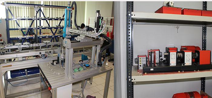 Sebagian peralatan di lab jurusan Mechatronics.